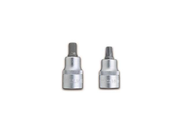 Chrome Hexagon Bit Sockets 3/8